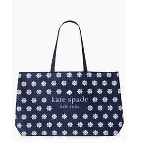 Kate Spade Floral Canvas Shopping Tote